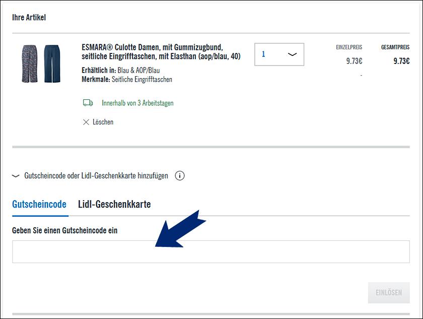 Lidl Gutscheincode 2021